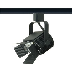 Nuvo Lighting Black Barn Door Track Light for H-Track