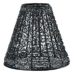 Black Empire Lamp Shade with Clip-On Assembly