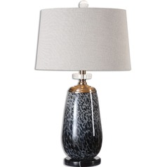 Uttermost Vergato Charcoal Glass Table Lamp
