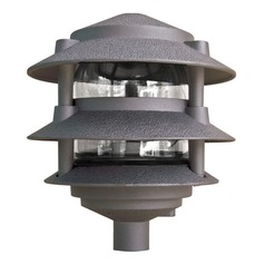 Bronze Cast Aluminum Three Tier Pagoda Light