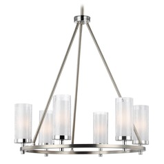 Feiss Jonah 6-Light Chandelier in Satin Nickel / Chrome