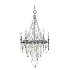 Elk Lighting Alexandra Weathered Zinc Crystal Chandelier
