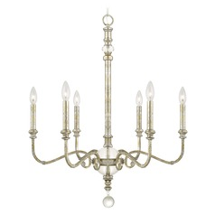 Capital Lighting Charleston Silver and Gold Leaf Chandelier