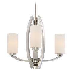 Metropolitan Lighting Glimrende Polished Nickel Chandelier