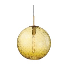 Hudson Valley Lighting Rousseau Aged Brass Pendant Light with Globe Shade