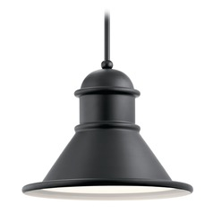 Farmhouse Barn Light Outdoor Hanging Light Black by Kichler Lighting
