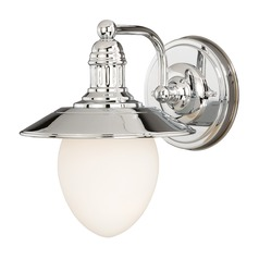 Marina Bay Polished Nickel Sconce by Vaxcel Lighting