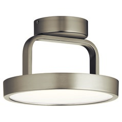 Stylus Brushed Nickel LED Semi-Flushmount Light by Elan Lighting