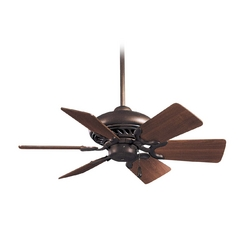32-Inch Ceiling Fan Without Light in Oil Rubbed Bronze Finish