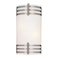 Wall Sconce with Two Lights and Etched Opal Glass