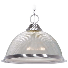 Nuvo Lighting Brushed Nickel Pendant Light with Bowl / Dome Shade