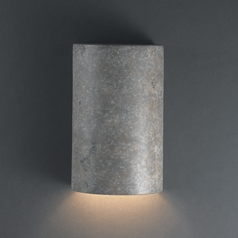 Outdoor Wall Light in Mocha Travertine Finish
