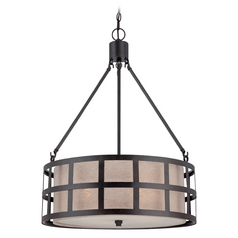 Quoizel Marisol Teco Marrone Pendant Light with Drum Shade