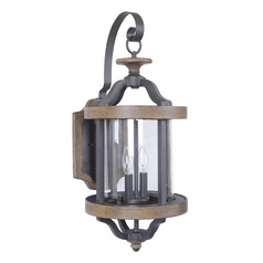 Craftmade Lighting Ashwood Textured Black/whiskey Barrel Outdoor Wall Light