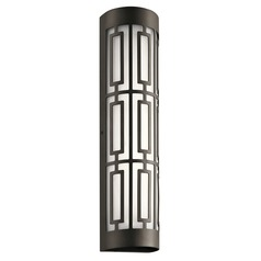 Art Deco LED Outdoor Wall Light Bronze Empire by Kichler Lighting