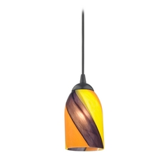 Design Classics Lighting Modern Mini-Pendant Light with Art Glass 582-07 GL1015D