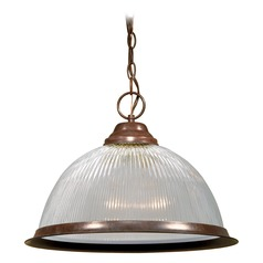 Prismatic Glass Pendant Light Bronze Nuvo Lighting