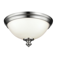 Feiss Lighting Parkman Brushed Steel Flushmount Light