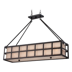 Quoizel Marisol Teco Marrone Island Light with Rectangle Shade
