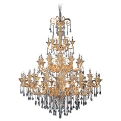 Legrenzi 66 Light Crystal Chandelier w/ Two-Tone Gold 24k