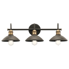 Farmhouse Bathroom Light Olde Bronze Clyde by Kichler Lighting