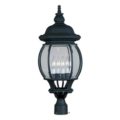 Maxim Lighting Crown Hill Black Post Light