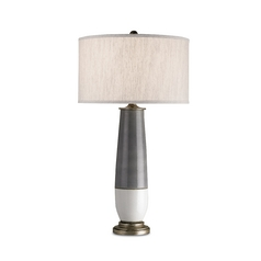 Modern Table Lamp in Pyrite Bronze/gray/white Crackle Finish