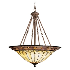 Kichler Pendant Light with Clear Glass in Bronze Finish