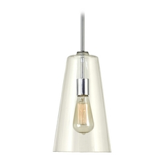Kenroy Boda Vintage Mini-Pendant Light with Clear Glass