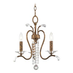 Livex Lighting Serafina Hand Applied Venetian Golden Bronze Mini-Chandelier