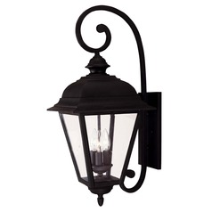 Savoy House Textured Black Outdoor Wall Light