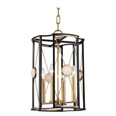 Hudson Valley Lighting Cresson Aged Brass Pendant Light