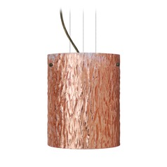 Besa Lighting Tamburo Bronze Mini-Pendant Light with Cylindrical Shade