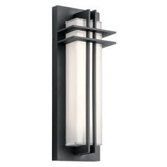 Craftsman Black LED Outdoor Wall Light Black 3000K 425LM