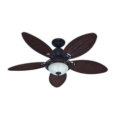 Hunter Fan Company Caribbean Breeze Weathered Bronze Ceiling Fan with Light