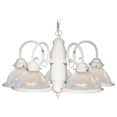 Nuvo Lighting Textured White Chandelier