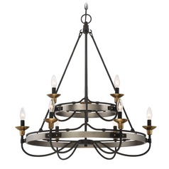 Quoizel Lighting Castle Hill Antique Nickel Chandelier