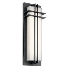 Craftsman Black LED Outdoor Wall Light Black 3000K 600LM