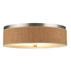 20-1/2 Inch Flushmount Drum Shade Ceiling Light