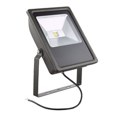 LED Flood Light Bronze 70-Watt 120v-277v 6760 Lumens 4000K 110 Degree Beam Spread