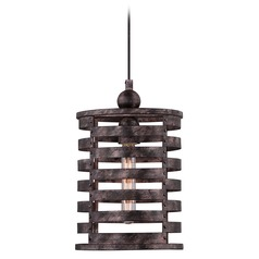 Quoizel Lighting Nikos Burnished Silver Mini-Pendant Light