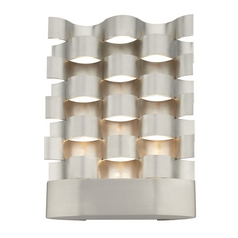 Hart Lighting Waveform Polished Steel LED Sconce