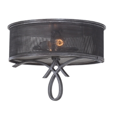 Kalco Lighting Delancy Vintage Iron Flushmount Light