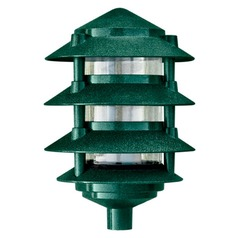 Green Cast Aluminum Four Tier Pagoda Light