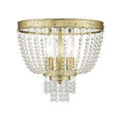 Livex Lighting Valentina Hand Applied Winter Gold Semi-Flushmount Light