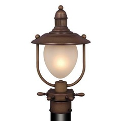 Orleans Antique Red Copper Post Light by Vaxcel Lighting