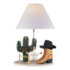 Lite Source Lighting Cowboy Lamp Beige Table Lamp with Empire Shade