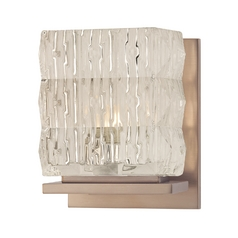 Modern Sconce with Clear Glass in Brushed Bronze Finish
