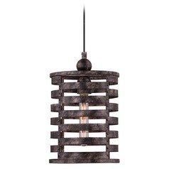 Quoizel Nikos Burnished Silver Mini-Pendant Light