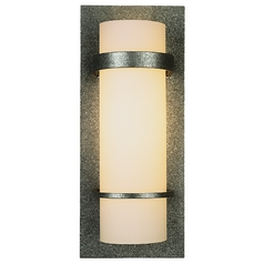 Sconce Wall Light with White Glass in Natural Iron Finish